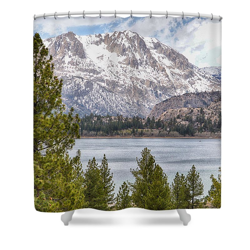 Scenic Shower Curtain featuring the photograph June Lake by AJ Schibig
