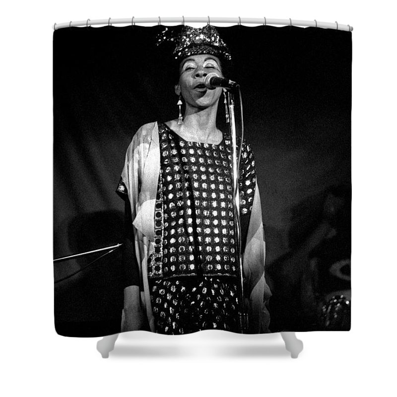 June Tyson Shower Curtain featuring the photograph June Tyson by Lee Santa