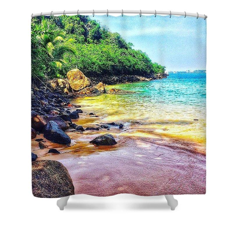 Sea Shore Shower Curtain featuring the photograph Jungle Beach by Fathima Shabnam