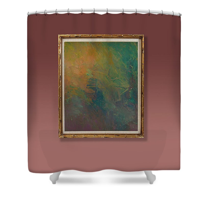 Textures Shower Curtain featuring the painting Jungle by Ron Halfant