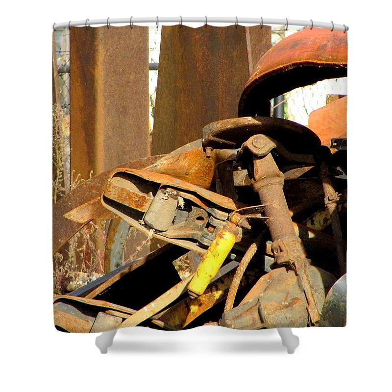 Photo Shower Curtain featuring the photograph Junk 15 by Anita Burgermeister