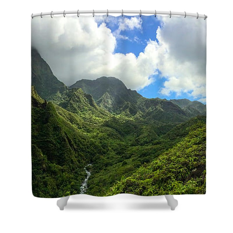 Hawaii Shower Curtain featuring the photograph Jurassic by William Sikora