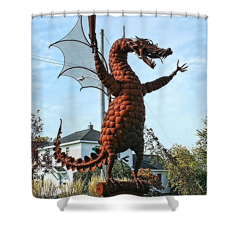 Jurustic Park Shower Curtain featuring the photograph Jurustic Park - 1 by Tommy Anderson