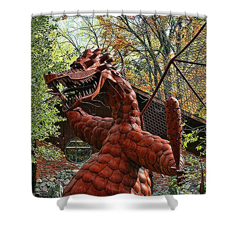Jurustic Park Shower Curtain featuring the photograph Jurustic Park - 3 by Tommy Anderson