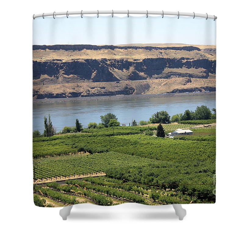 Columbia River Gorge Shower Curtain featuring the photograph Just Add Water... by Carol Groenen