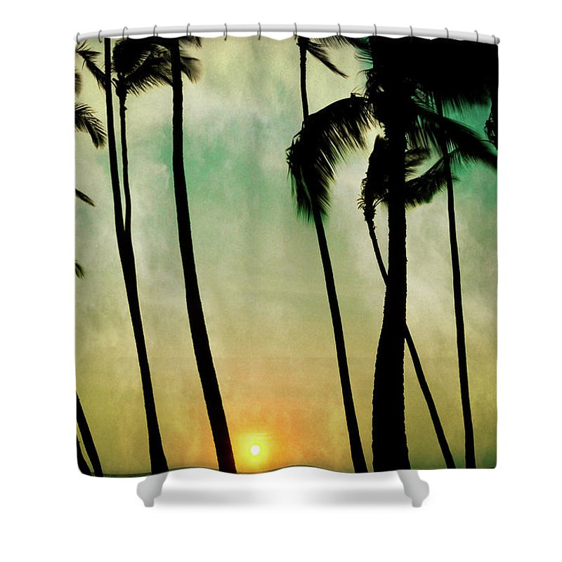 Hawaii Shower Curtain featuring the photograph Just Before Sunset by Don Schwartz