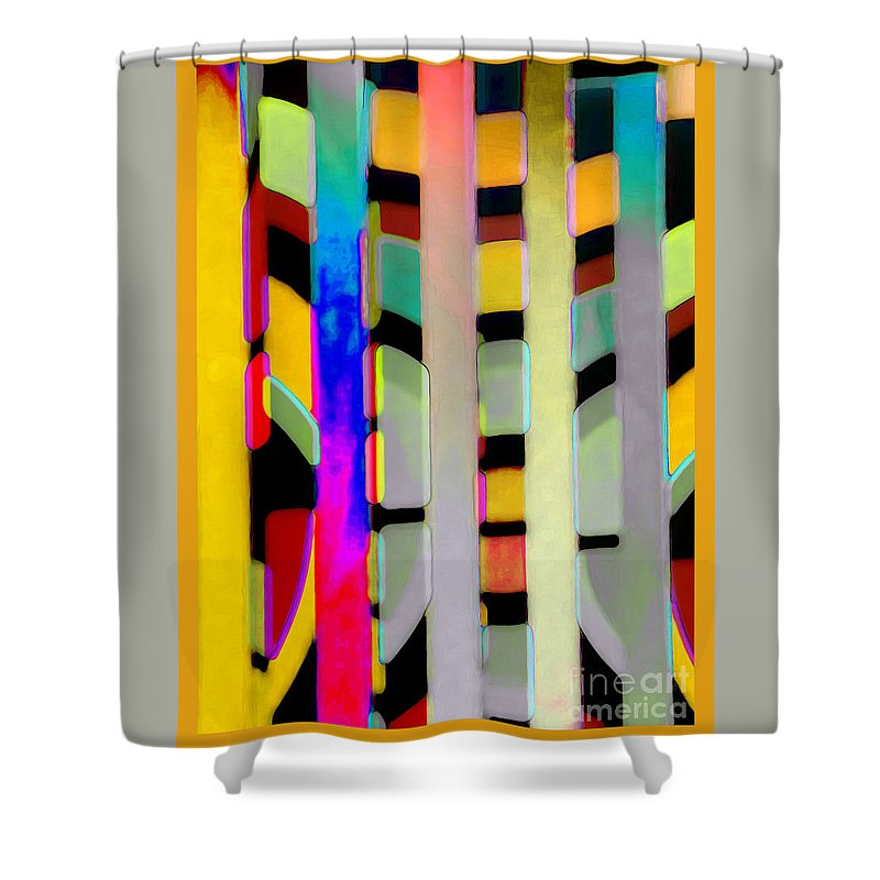 Abstract Shower Curtain featuring the photograph Just Color 2 by Linda Parker