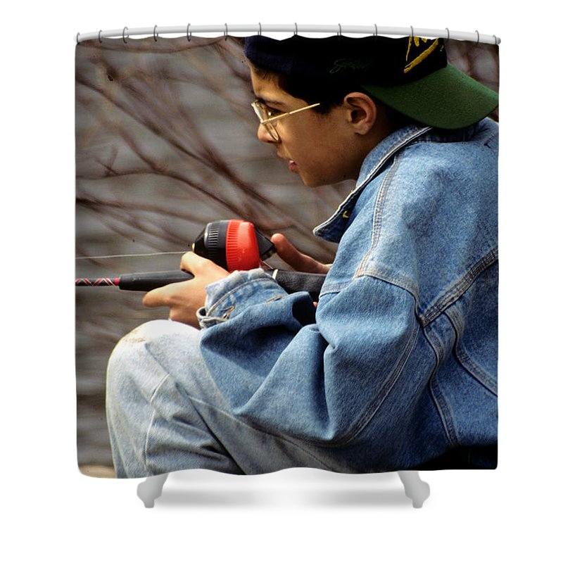 Fishing Shower Curtain featuring the photograph Just Fishin by Laurie Paci