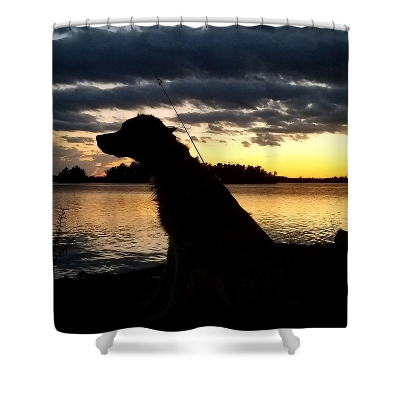 Shower Curtain featuring the photograph Just Fishin by Tiffany Erdman