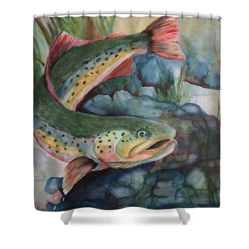 Canvas Prints Shower Curtain featuring the painting Just Looking by Donna Steward