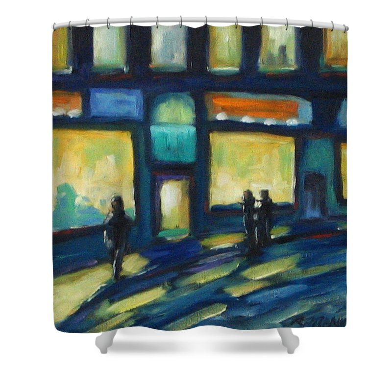 Town Shower Curtain featuring the painting Just Looking by Richard T Pranke