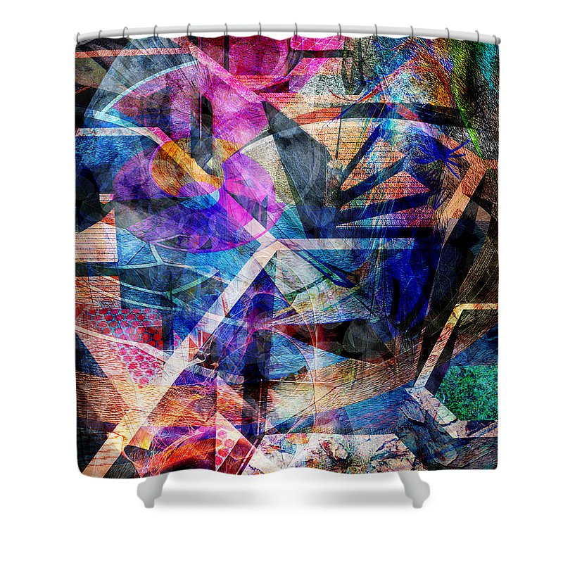 Just Not Wright Shower Curtain featuring the digital art Just Not Wright by John Beck