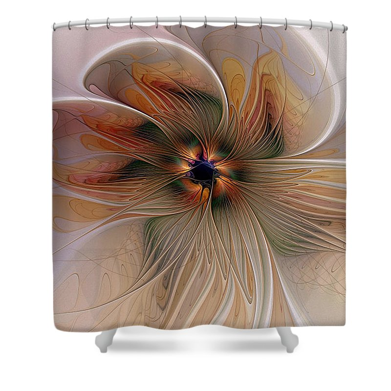 Digital Art Shower Curtain featuring the digital art Just Peachy by Amanda Moore