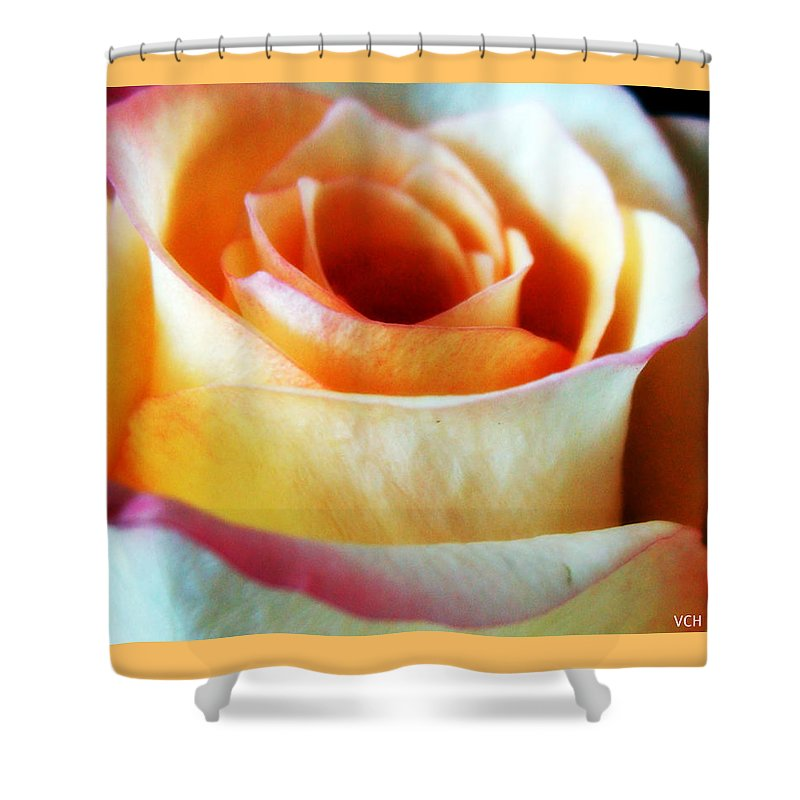 Flower Shower Curtain featuring the photograph Just Peachy by Veronica Henson