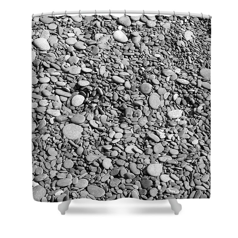 Rocks Shower Curtain featuring the photograph Just Rocks - Black And White by Carol Groenen