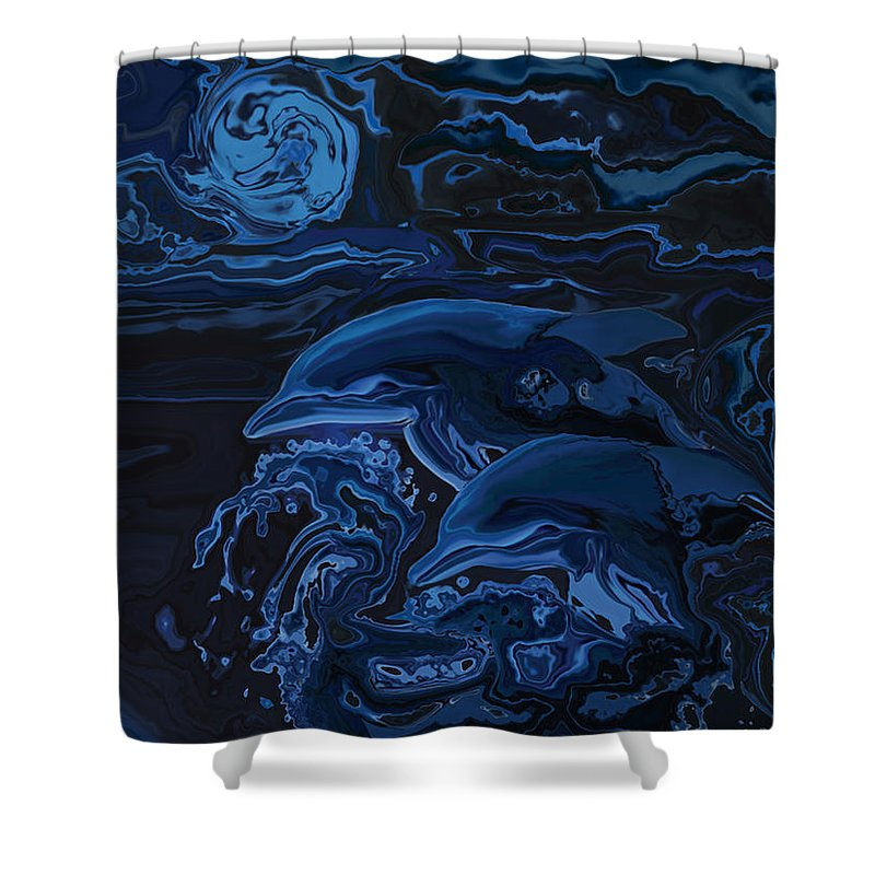 Animal Shower Curtain featuring the digital art Just The Two Of Us by Rabi Khan