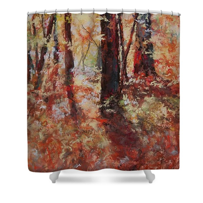 Landscape Shower Curtain featuring the painting Just Waking by Marlene Gremillion