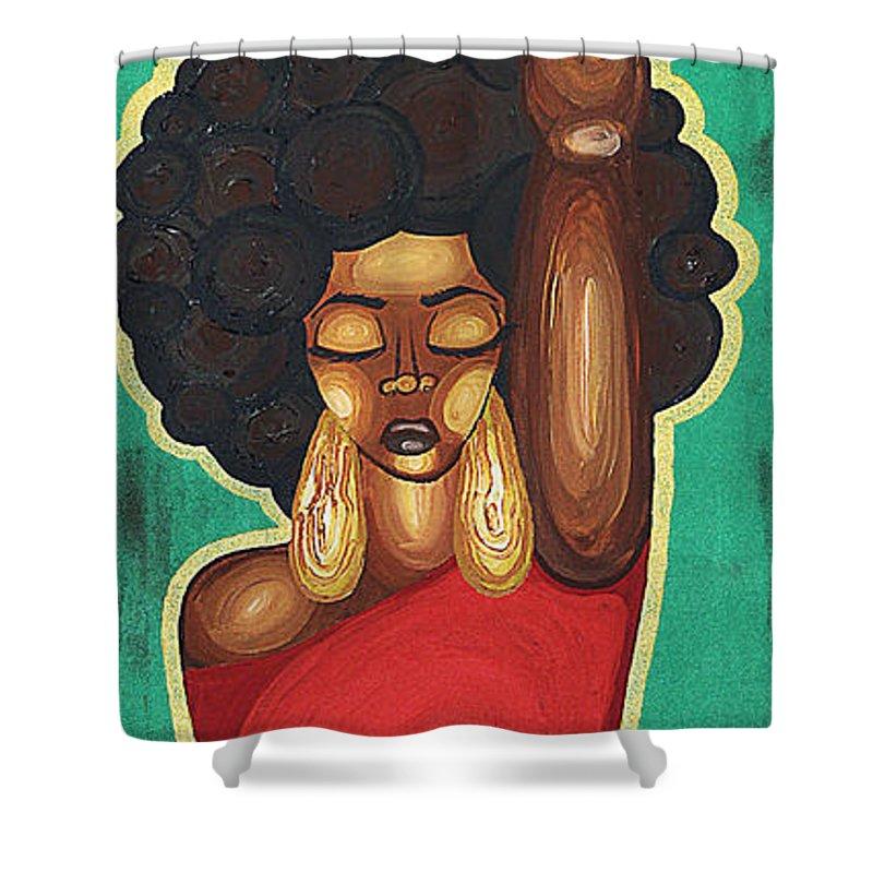 Afro Hair Shower Curtains Fine Art America