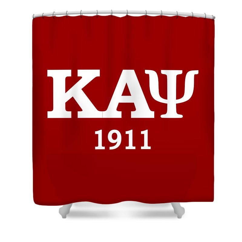 0253ea33 Kappa Alpha Psi Shower Curtain featuring the digital art Kappa Alpha Psi  1911 by Sincere Taylor