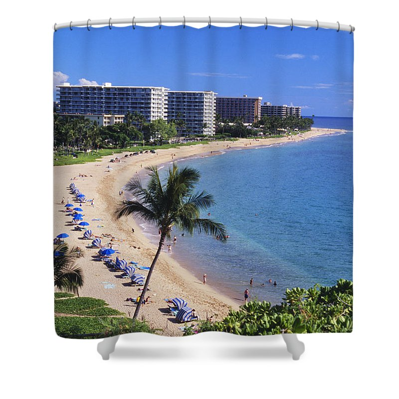 Architecture Shower Curtain featuring the photograph Kaanapali Beach by Greg Vaughn - Printscapes