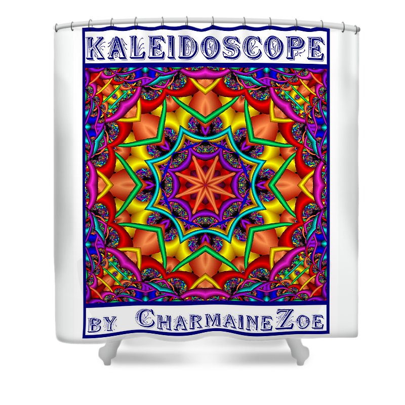 Kaleidoscope Shower Curtain featuring the digital art Kaleidoscope 2 by Charmaine Zoe