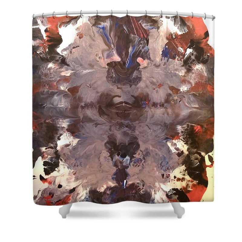 Black Shower Curtain featuring the painting Kaleidoscope by Jessica Baker
