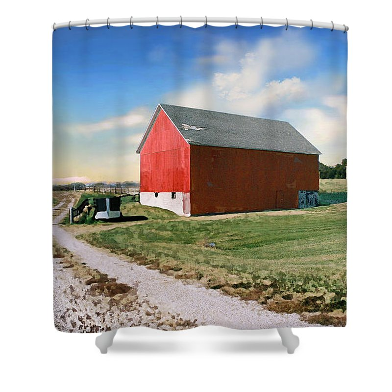 Barn Shower Curtain featuring the photograph Kansas Landscape II by Steve Karol
