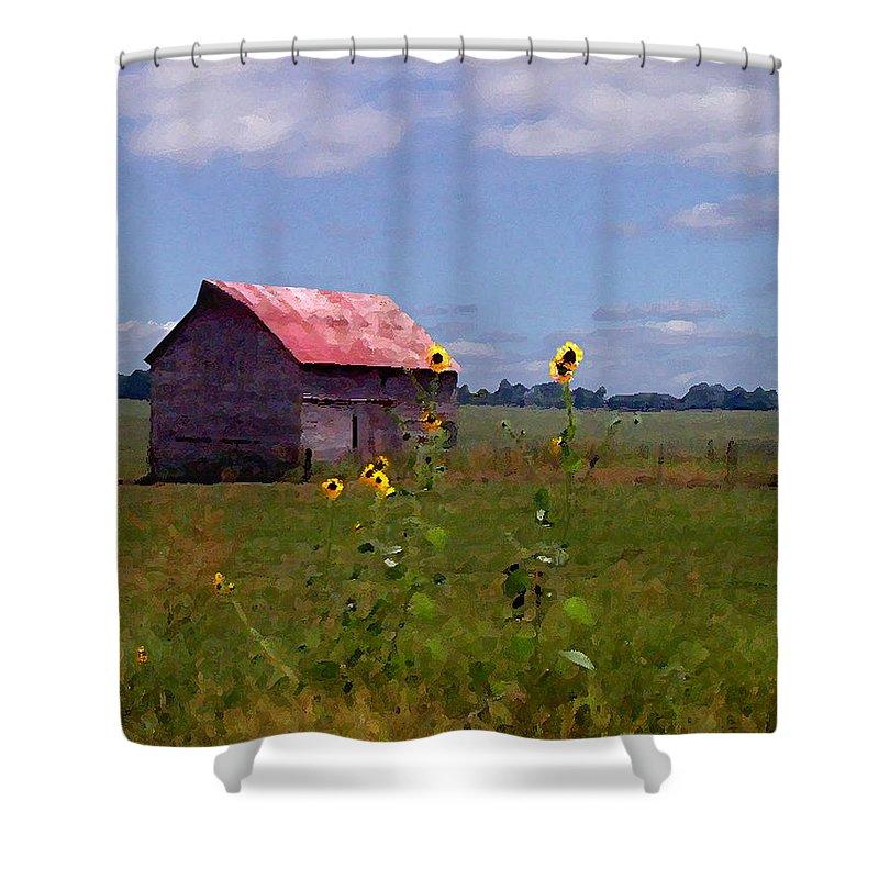 Landscape Shower Curtain featuring the photograph Kansas Landscape by Steve Karol