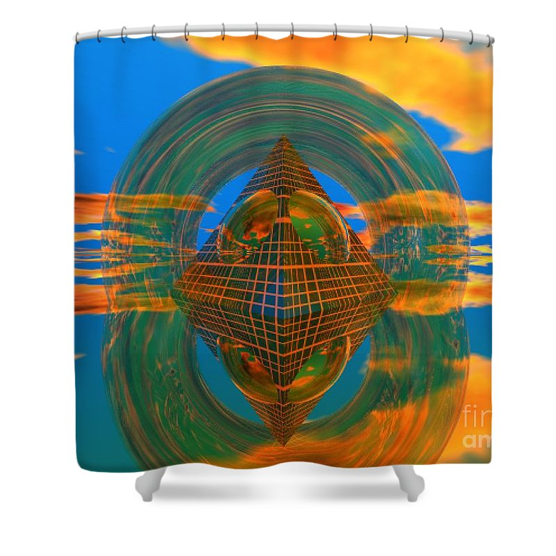 Karma Shower Curtain featuring the digital art Karma by Oscar Basurto Carbonell