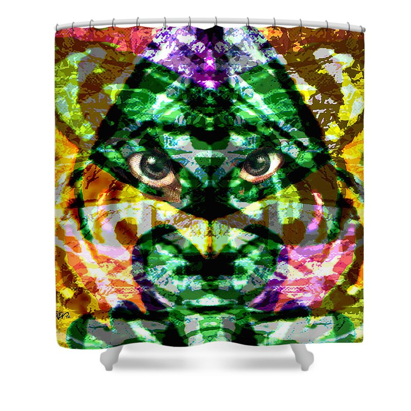Abstract Shower Curtain featuring the digital art Katmandu by Seth Weaver