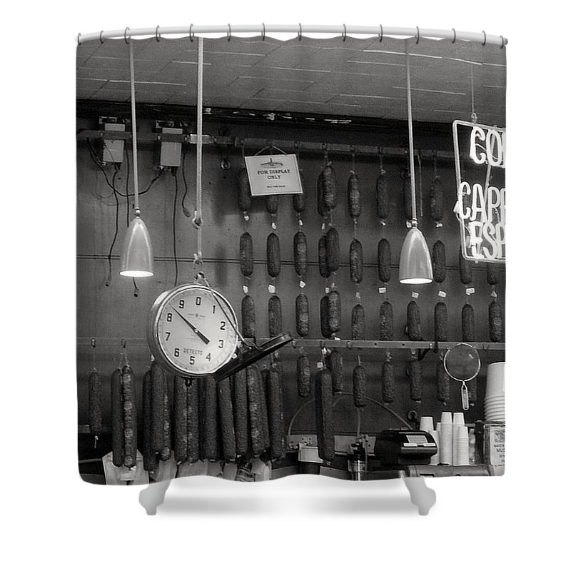 Deli Shower Curtain featuring the photograph Katz Deli by Debbi Granruth