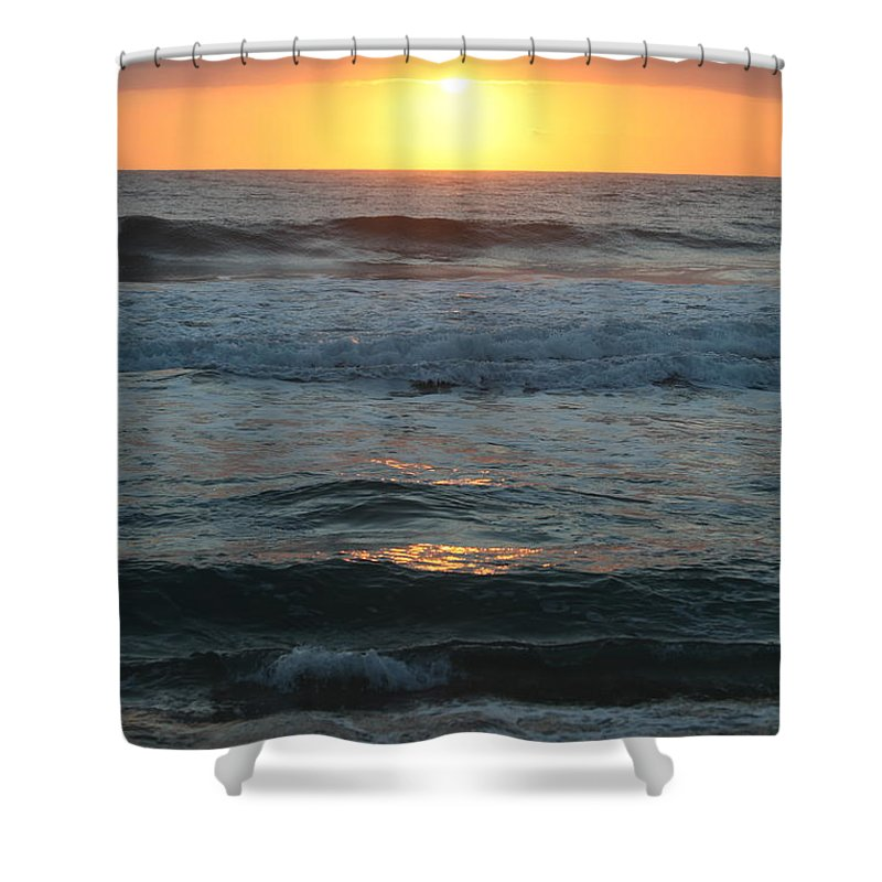 Kauai Shower Curtain featuring the photograph Kauai Sunrise by Nadine Rippelmeyer