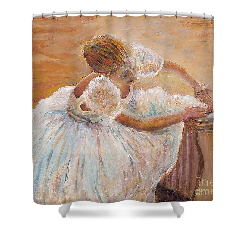 Dancer Shower Curtain featuring the painting Kaylea by Nadine Rippelmeyer