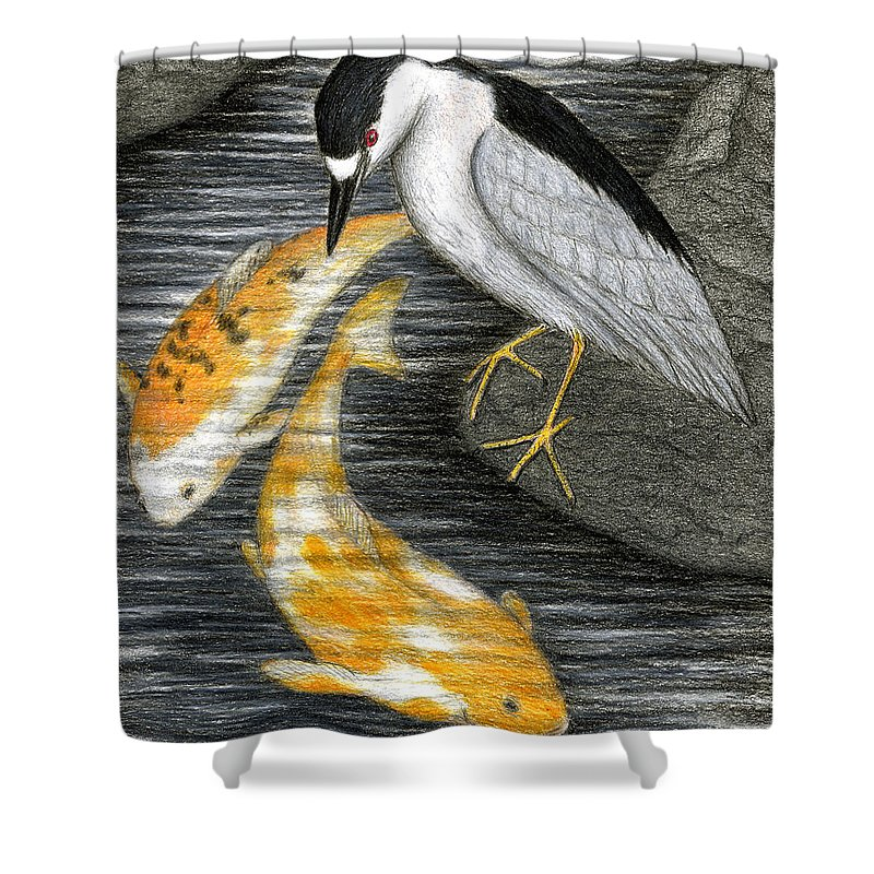 Art Shower Curtain featuring the painting Keep Dreaming by Don McMahon