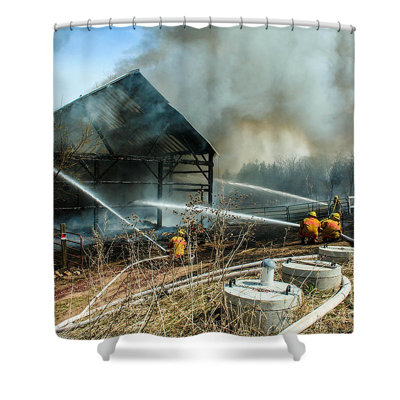 Firefighting Shower Curtain featuring the photograph Keep Fire In Your Life #15 by Tommy Anderson