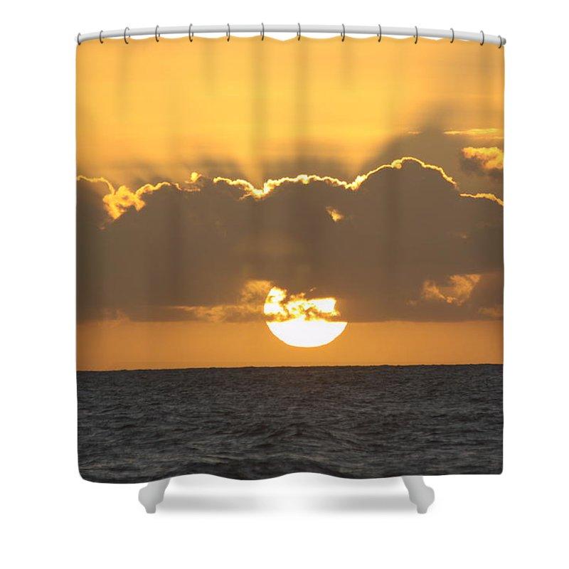 Sunset Shower Curtain featuring the photograph Kekaha Sunset by Lauri Novak