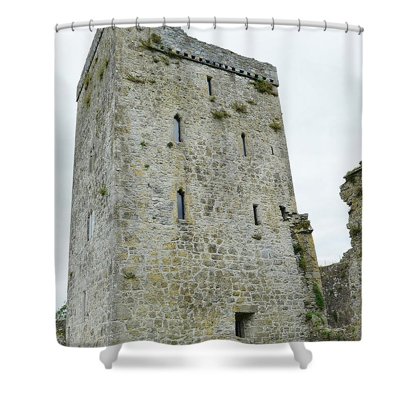Kells Shower Curtain Featuring The Photograph Priory Restored Medieval Irish Castle Tower House County Kilkenny