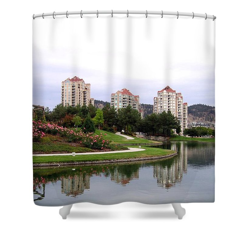 Kelowna Shower Curtain featuring the photograph Kelowna Waterfront Park by Will Borden