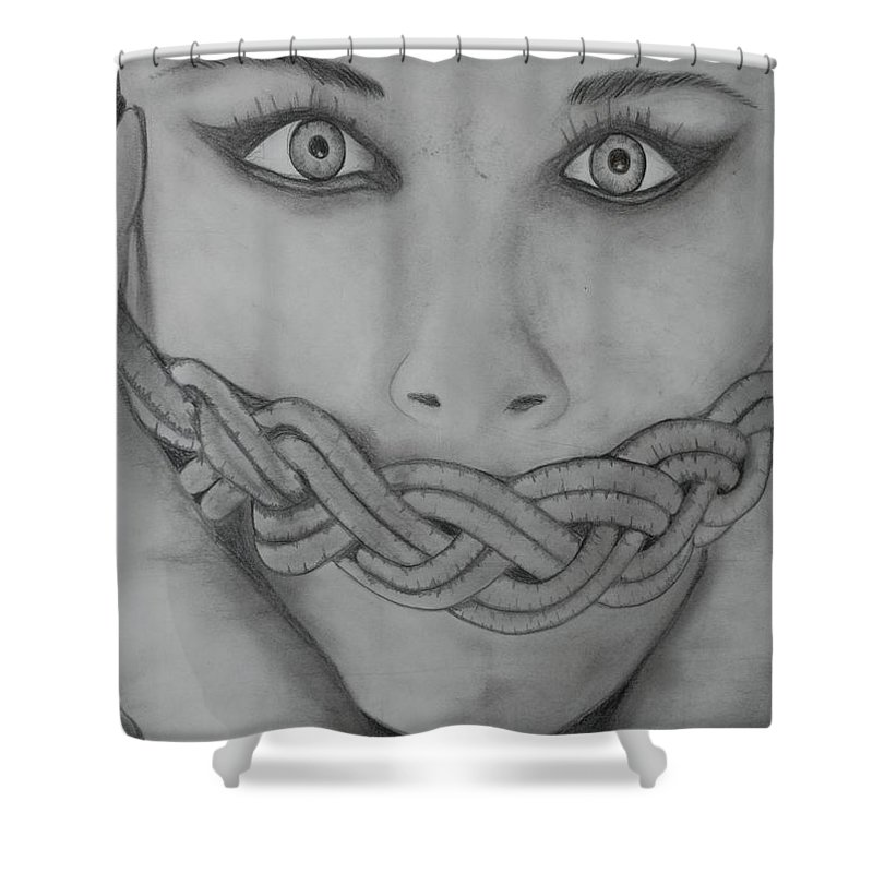 Art Shower Curtain featuring the photograph Keltic Silence by Rob Hans