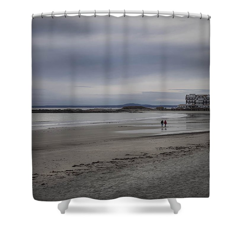 Beach Shower Curtain featuring the photograph Kennebunkport Maine And Colonial Hotel by Debra Forand