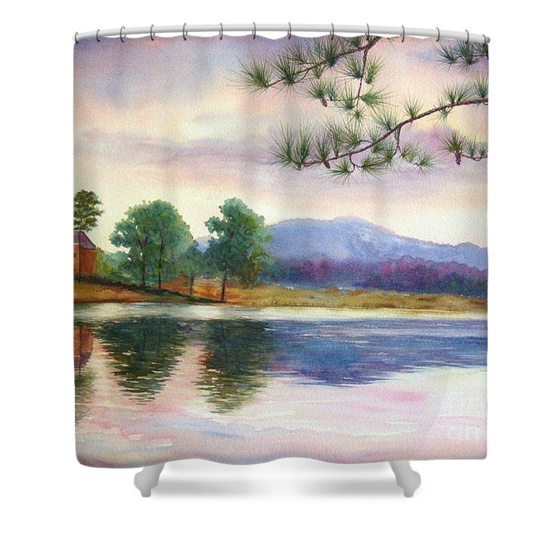 Marietta Shower Curtain featuring the painting Kennesaw Mt. by Ann Cockerill