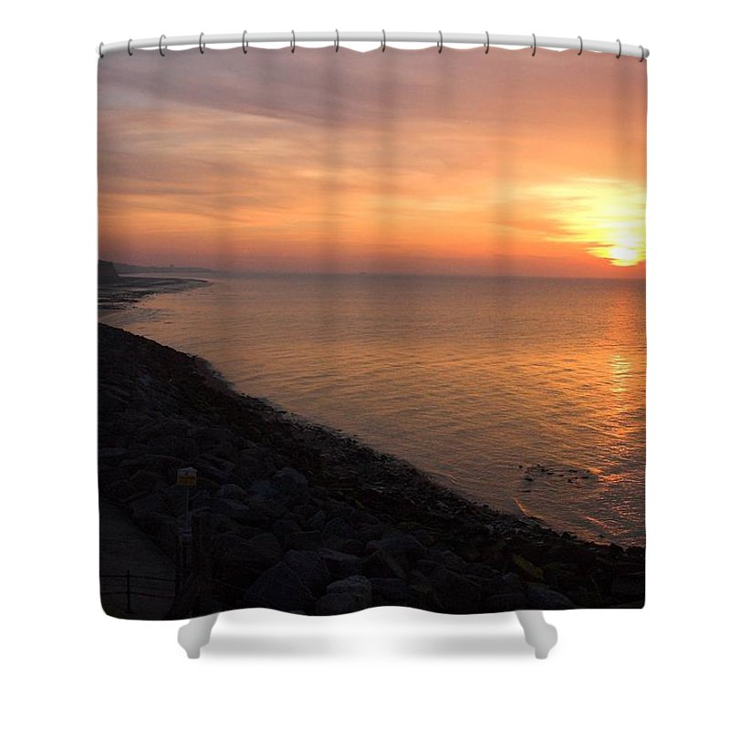Sunset Shower Curtain featuring the photograph Kentish Sunset by Chris Pickett