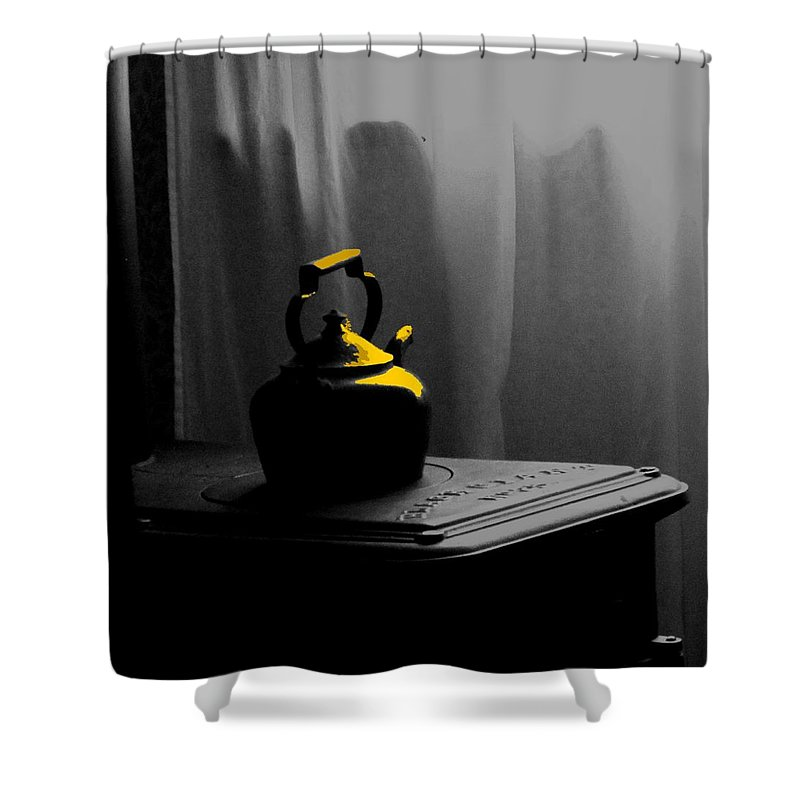 Kettle Shower Curtain featuring the photograph Kettle In Isolation by Ian MacDonald