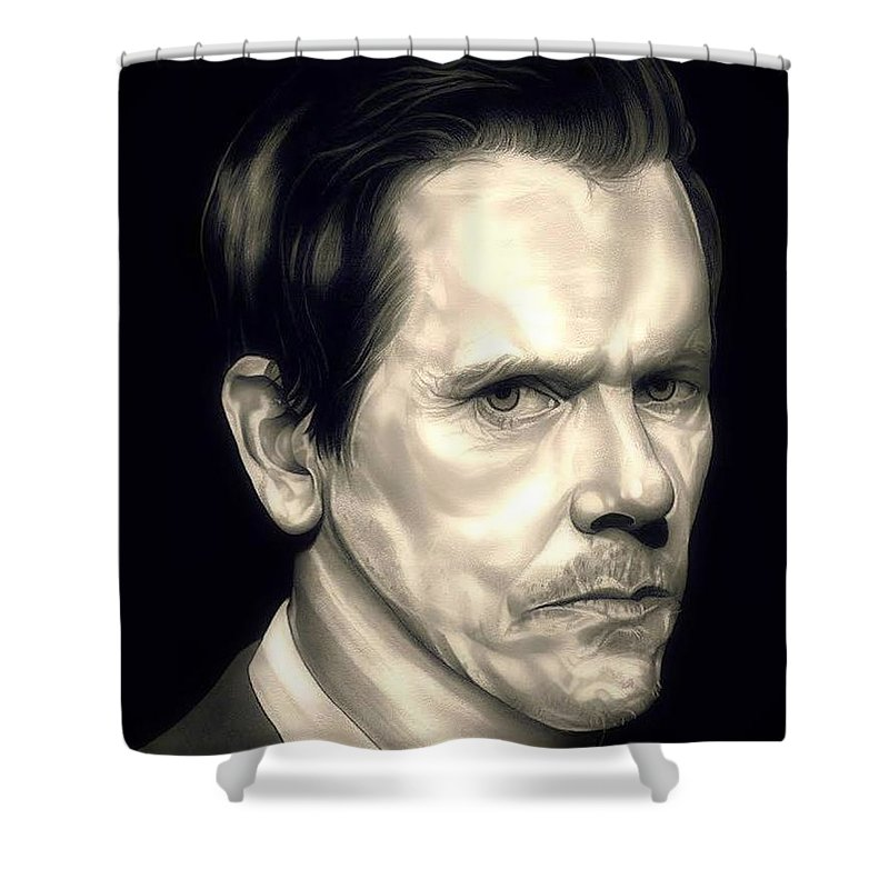 Charmant Kevin Bacon Shower Curtain Featuring The Drawing Kevin Bacon   The  Following By Fred Larucci