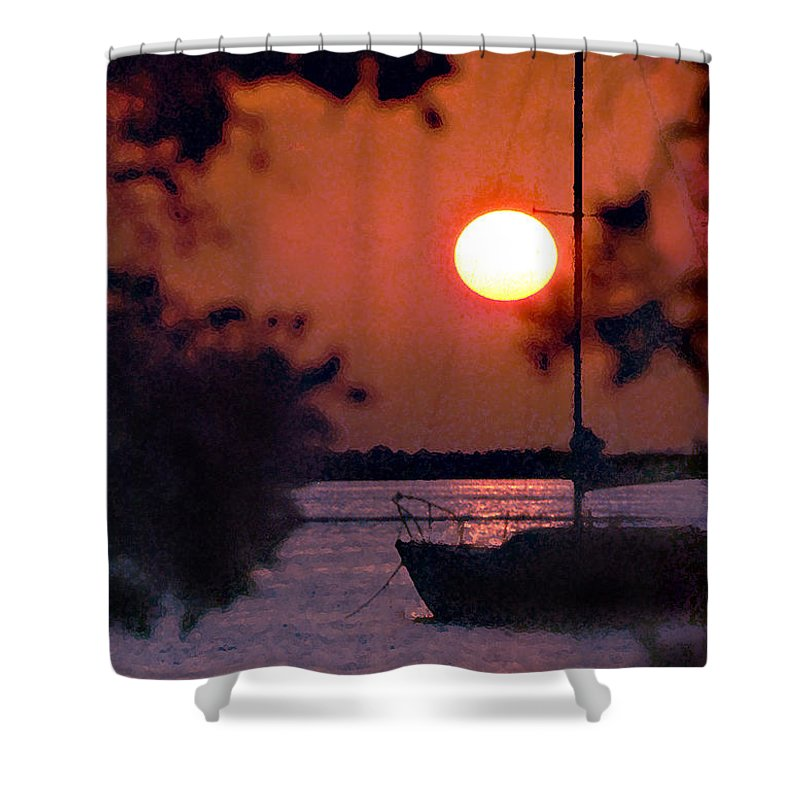 Seascape Shower Curtain featuring the photograph Key Largo by Steve Karol