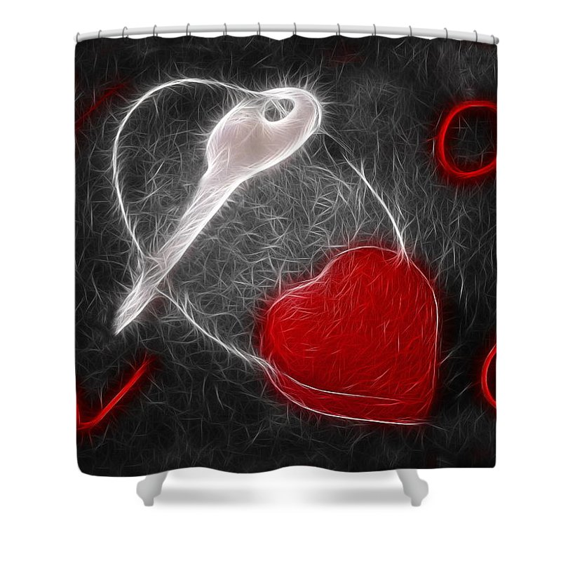 Heart Shower Curtain featuring the photograph Key To The Heart by Manfred Lutzius