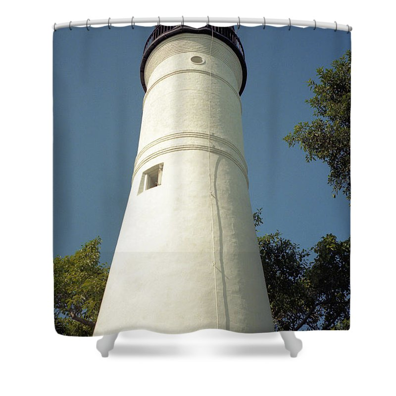 Lighthouses Shower Curtain featuring the photograph Key West Lighthouse by Richard Rizzo