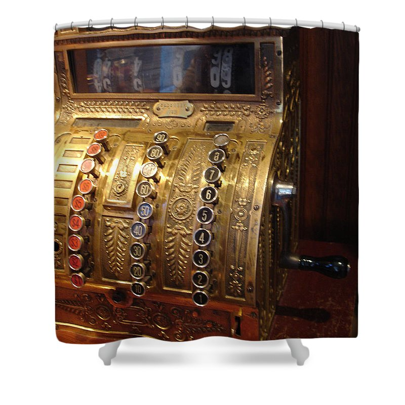 Cash Register Shower Curtain featuring the photograph Keys Of Time 2 by Shelley Jones
