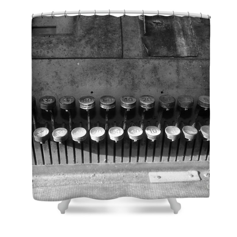 Cash Register Shower Curtain featuring the photograph Keys To Commerce by David Lee Thompson