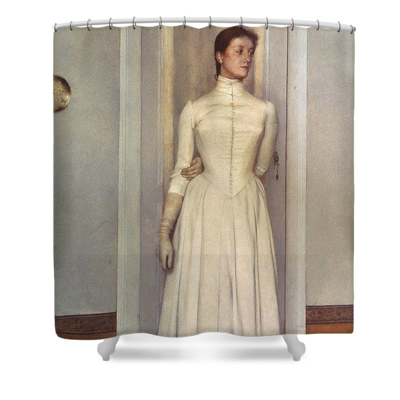 1887 Shower Curtain featuring the photograph Khnopff: Sister, 1887 by Granger